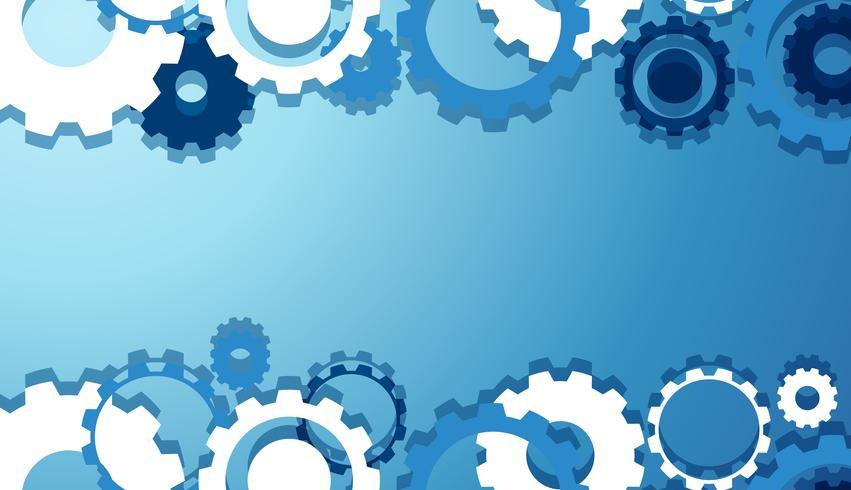 Engineering Gears Wallpaper in blauw vector