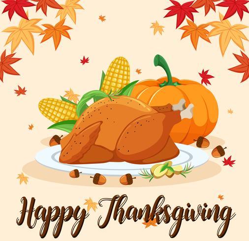 Happy Thanksgiving feest scène vector