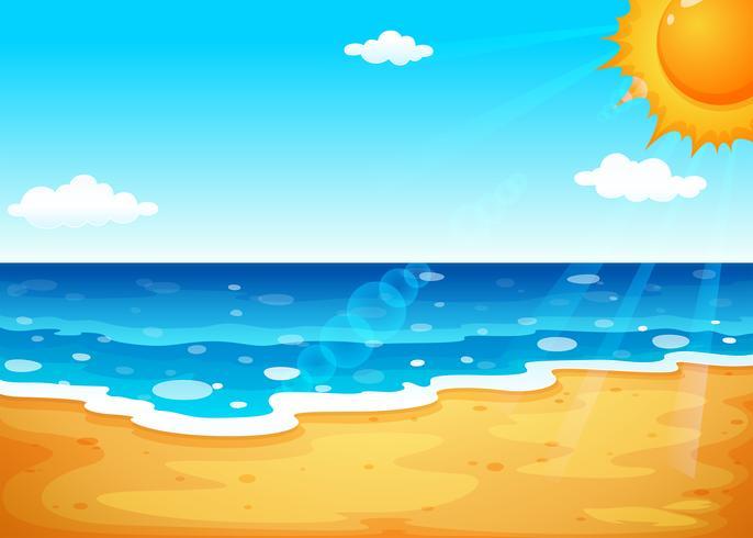 Een zomer op het strand vector