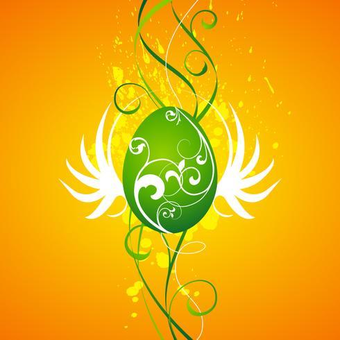Vector Pasen-illustratie met geschilderd ei