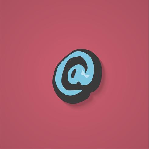 Grappig karakter van een lettertype, vectorillustratie vector
