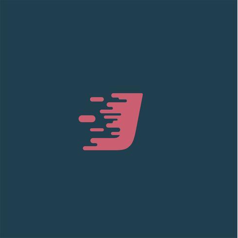 'Rush' karakter van een gezet, vectorillustratie vector