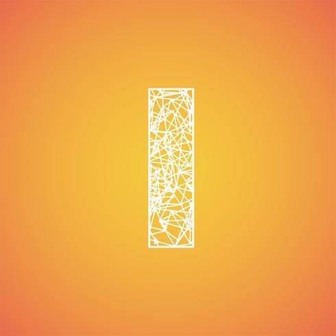 Netto-lettertype van een gezet, vectorlettertype vector