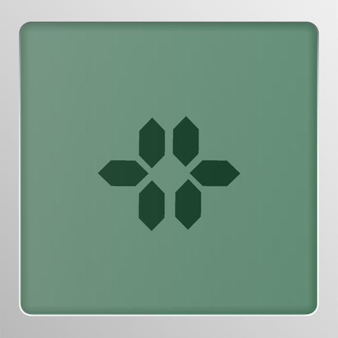 Digitale karakterset lettersoort op het scherm, vectorillustratie vector