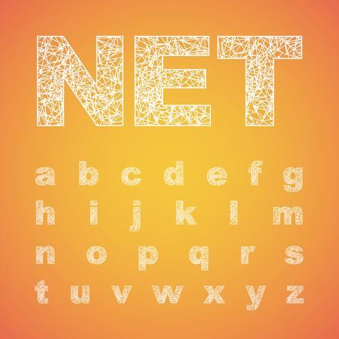 Netto gezet lettertype, vectordoopvont vector