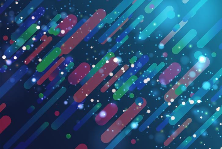 Kleurrijke abstracte achtergrond met ballen en lijnen voor reclame, vectorillustratie vector
