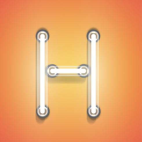 Realistisch neon van een reeks, vectorillustratie vector
