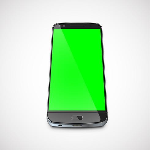 Realistische, hoog-gedetailleerde cellphone, vectorillustratie vector