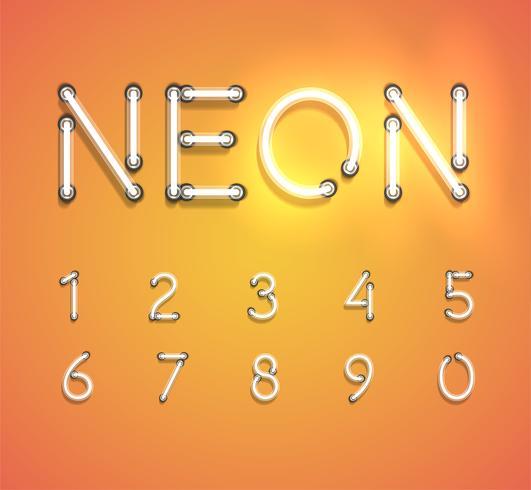 Realistische neonreeks, vectorillustratie vector