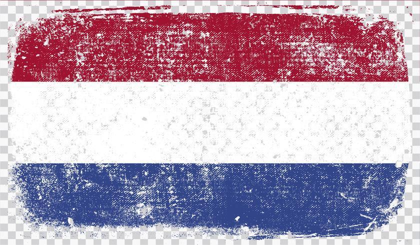 Grounge-gestileerde vlag, vectorillustratie vector