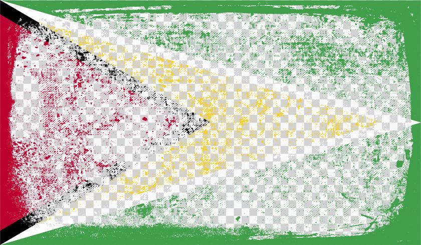 Grunge-gestileerde vlag, vectorillustratie vector