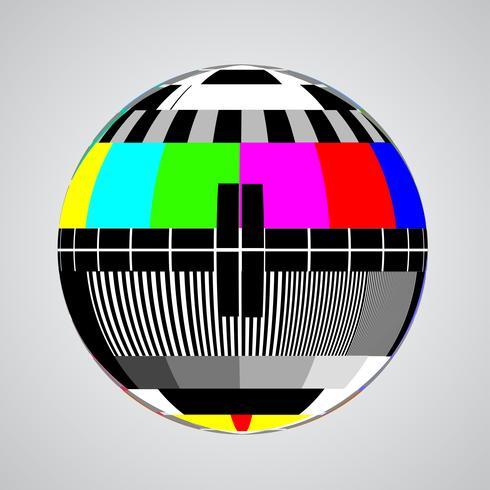 TV-foutscherm in een bol, vectorillustratie vector