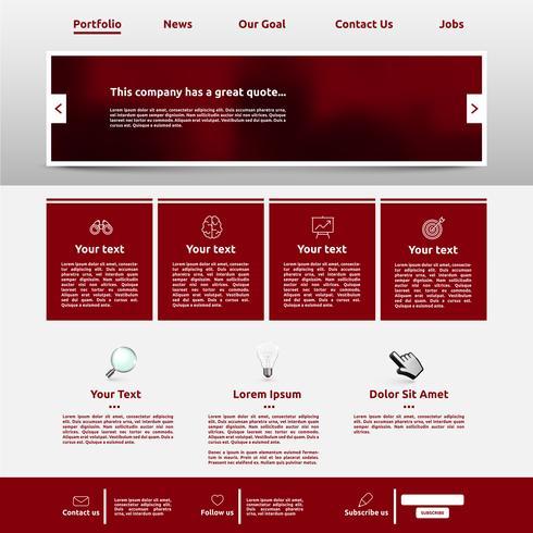 Modern websitemalplaatje voor zaken, vectorillustratie vector