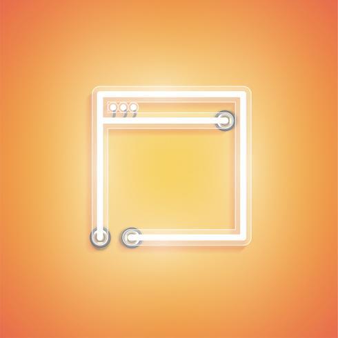 Gloeiend realistisch neonpictogram voor Web, vectorillustratie vector