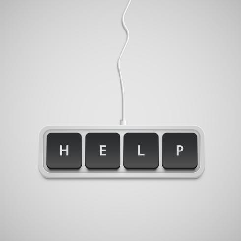 Vereenvoudigd toetsenbord met slechts één woord, vector