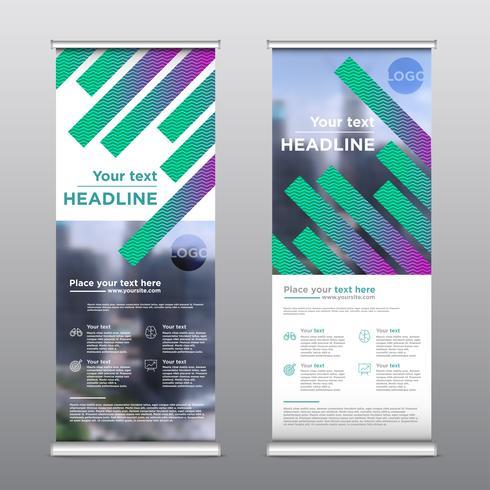 Kleurrijke rollup ontwerpvlieger, vectorillustratie vector