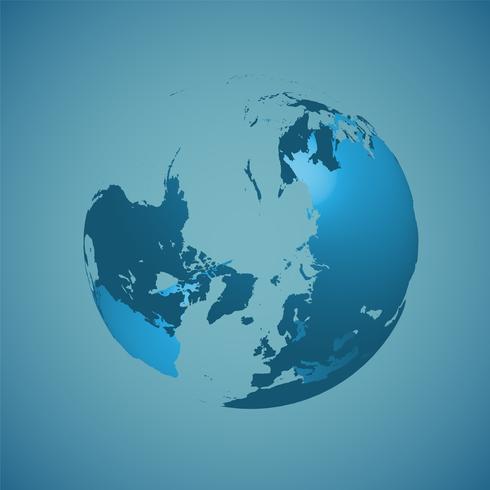 Wereldbol op een blauwe achtergrond, vectorillustratie vector