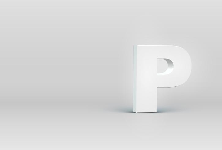 Hoog gedetailleerd 3D doopvontkarakter, vectorillustratie vector