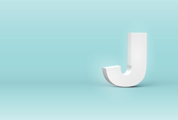 Hoog gedetailleerde 3D-lettertype brief, vectorillustratie vector