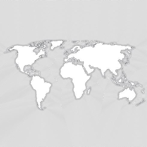 Kleurrijke wereldkaart gemaakt door ballen en lijnen, vectorillustratie vector