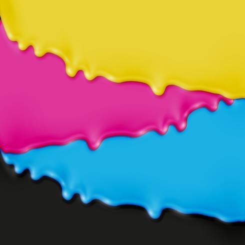 CMYK realistische verf, vectorillustratie vector