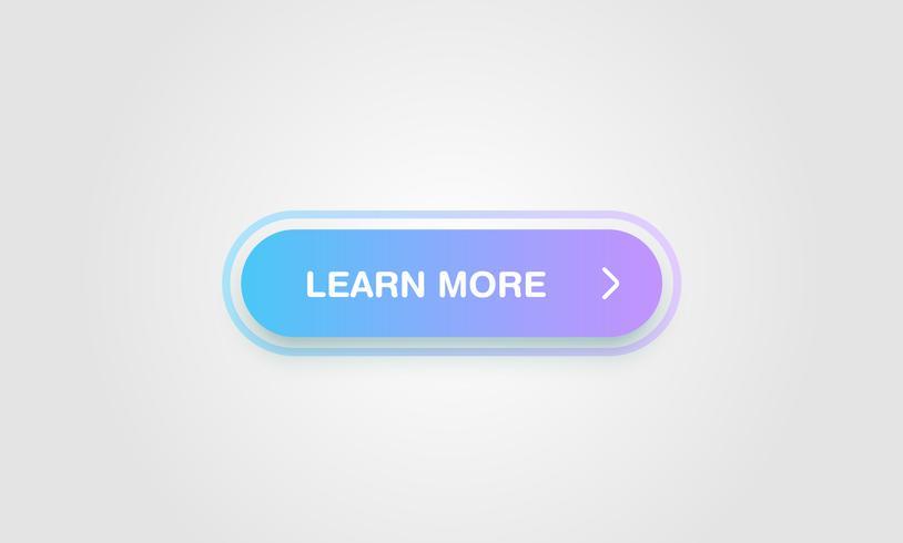 Kleurrijke glanzende en schone knop voor websites en online gebruik, vectorillustratie vector