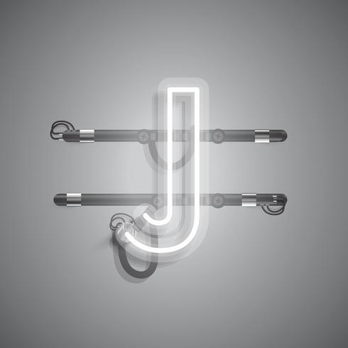 Realistisch neonkarakter met draden en console, vectorillustratie vector