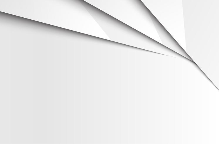Gelaagde abstracte witte achtergrond, vector