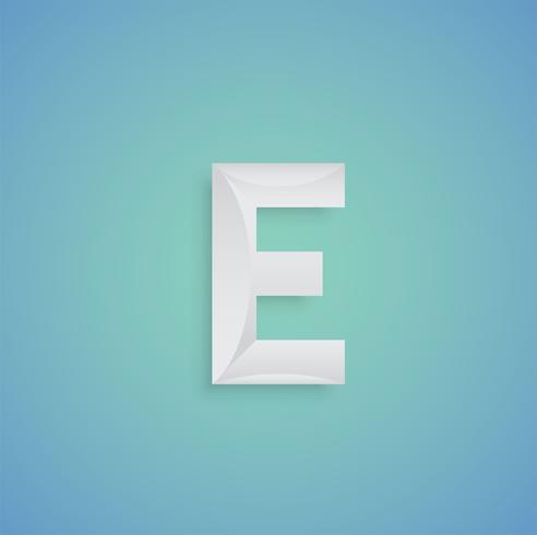Witboekkarakter op blauwe achtergrond van gezet zet, vector