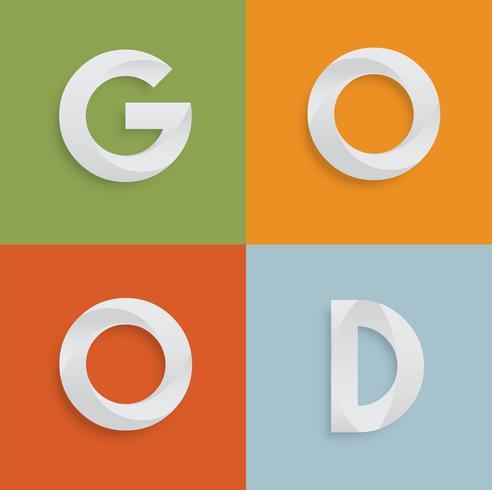 'GOED' vierletterwoord voor websites, illustratie, vector