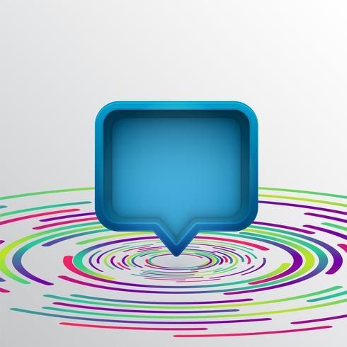Realistische 3D-tekstballon met kleurrijke cirkels, vectorillustratie vector