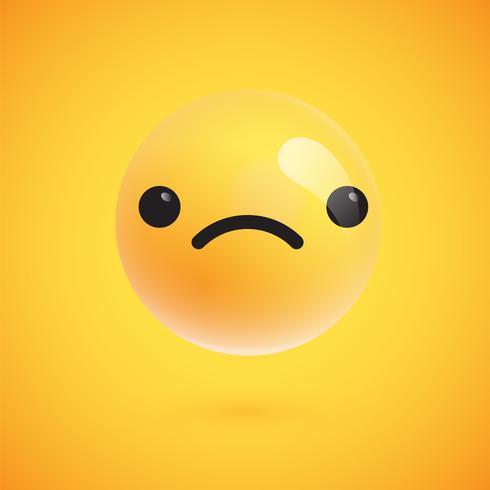 Leuke hoog-gedetailleerde gele emoticon voor Web, vectorillustratie vector
