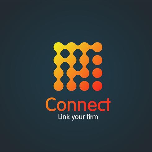 Kleurrijke eenvoudige 'verbindings' illustratie op blauw, vector