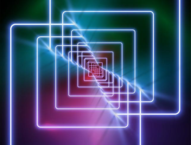 Hoog-gedetailleerde neonlichtachtergrond, vectorillustratie vector