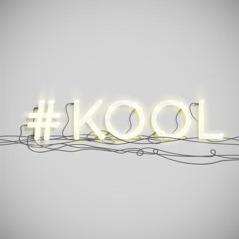 Neon hashtag woord, vectorillustratie vector