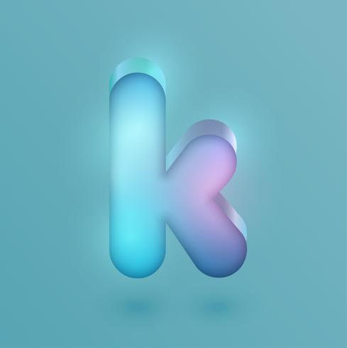 3D-realistische neon karakter, vector