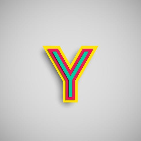 Kleurrijk papercutkarakter van een gezet, vector