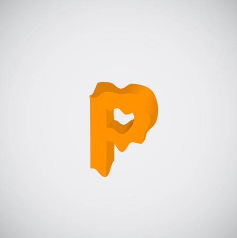 Smeltend oranje karakter, vector
