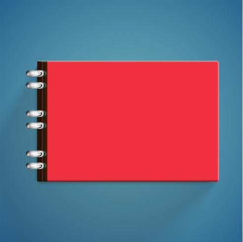 Realistische kleurrijke boeken met schaduw, vectorillustratie vector