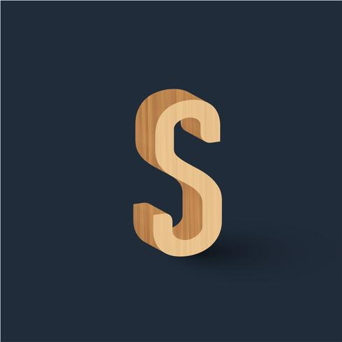 3D houten doopvontkarakter, vector