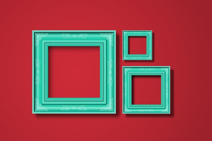 Kader op een rode achtergrond, vector