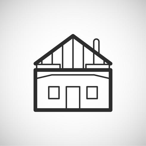 Accommodatie pictogram, vectorillustratie vector