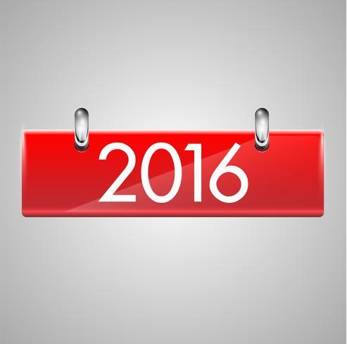 Realistische kalender met rode harde dekking, vectorillustratie vector