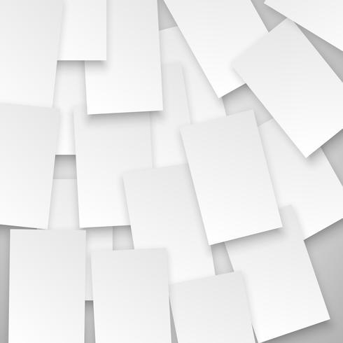 Witte vierkanten op grijze achtergrond, vector