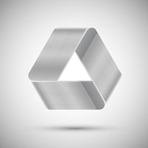 Metalen optische illusie driehoek, vector