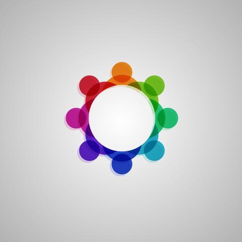 Kleurrijke 'Verbinding' illustratie, vector