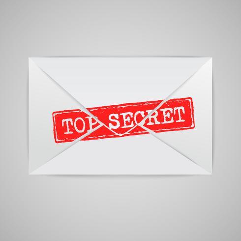 Een envelop met een waarschuwingsbord, vector