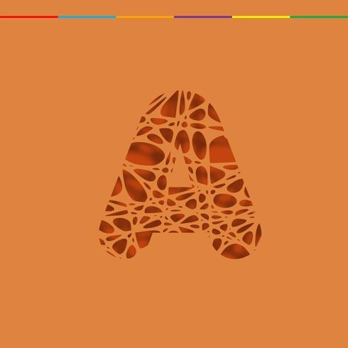 Knipsel karakter van een lettertype, vector