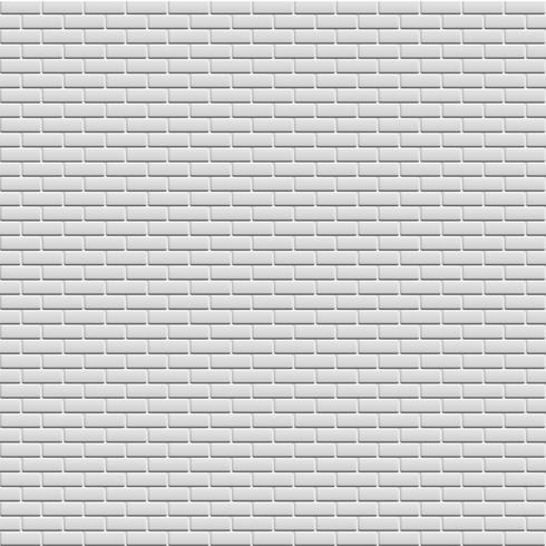 Witte bakstenen muur, vectorillustratie vector