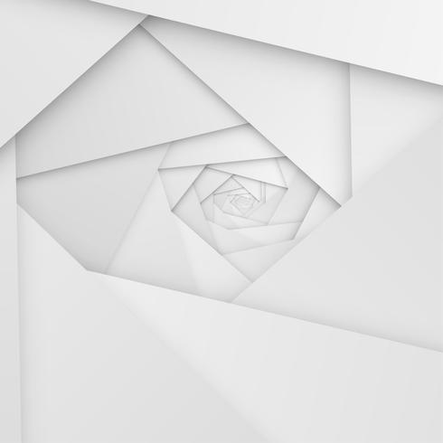 Abstracte witte achtergrond met vouwen en schaduwen, vectorillustratie vector
